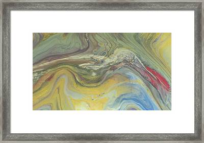 Acrylic Pour Framed Print by Sonya Wilson