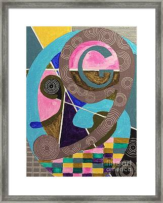 Framed Print featuring the painting Alphabet Series by Hang Ho