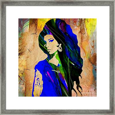 Amy Winehouse Collection Framed Print