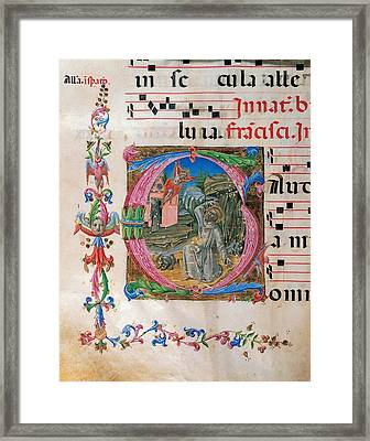 Anonymous Sienese Painter, Proprio Dei Framed Print