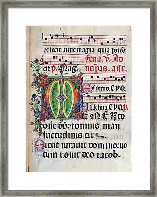 Anonymous Sienese Painter, Psalter Framed Print by Everett
