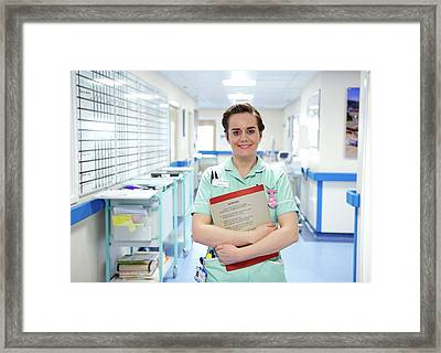 Apprentice Clinical Support Worker Framed Print by Lth Nhs Trust