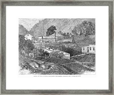 Framed Print featuring the painting Arkansas Hot Springs by Granger