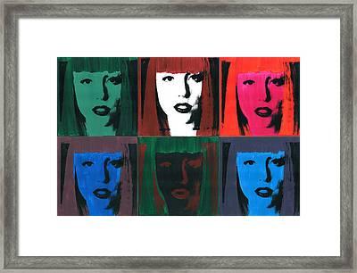 6 Artpop Aka Lady Gaga Framed Print by David K Parker