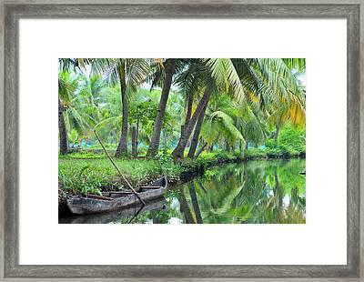 Asia, India, Kerala (backwaters Framed Print