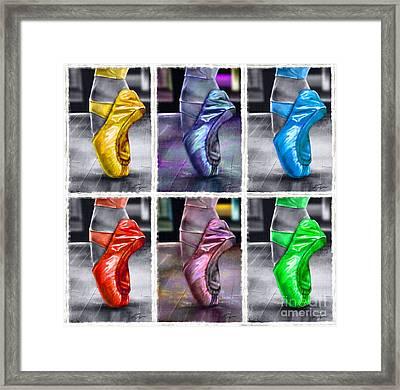 6 Ballerinas Dancing Framed Print
