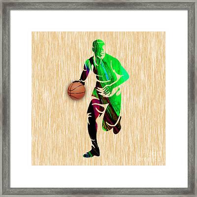 Basketball Framed Print by Marvin Blaine