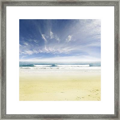 Beach Framed Print by Les Cunliffe