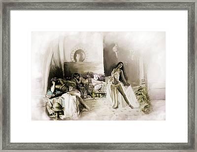 Belly Dancer Lounge B Framed Print