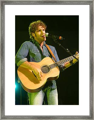 Billy Currington Framed Print by Don Olea