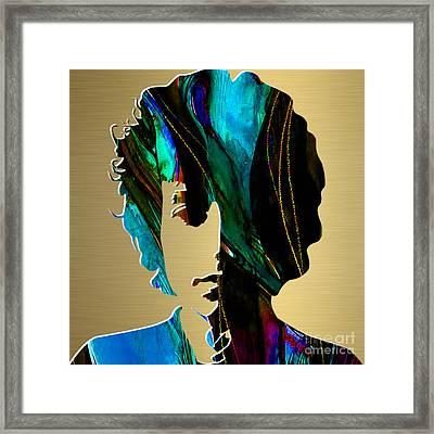 Bob Dylan Gold Series Framed Print