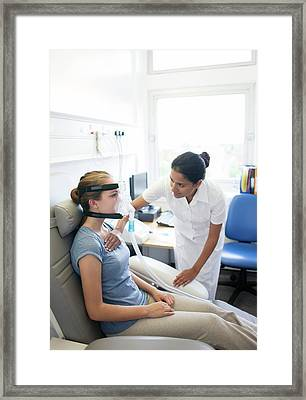Breathing Assessment Framed Print by Science Photo Library