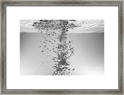 Bubbles Underwater Framed Print by Sami Sarkis