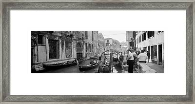 Buildings Along A Canal, Grand Canal Framed Print by Panoramic Images