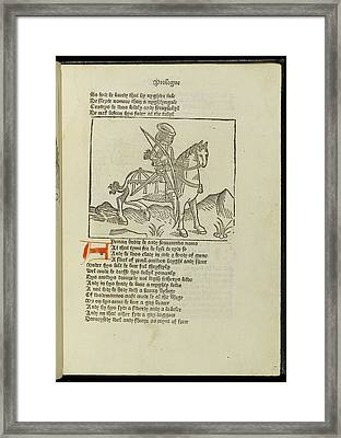 Canterbury Tales Framed Print by British Library