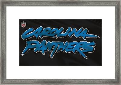 Carolina Panthers Uniform Framed Print