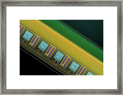 Ccd Camera Sensor Framed Print