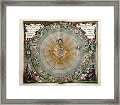 Cellarius, Andreas 1596-1665. Atlas Framed Print