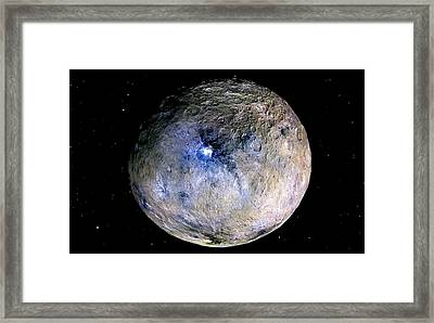 Ceres Framed Print by Nasa/jpl-caltech/ucla/mps/dlr/ida