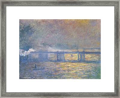 Charing Cross Bridge Framed Print by Claude Monet