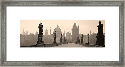 Charles Bridge Prague Czech Republic Framed Print by Panoramic Images