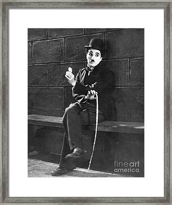Charlie Chaplin Framed Print by MMG Archives