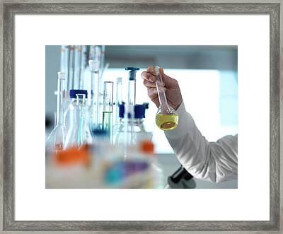 Chemistry Research Framed Print by Tek Image