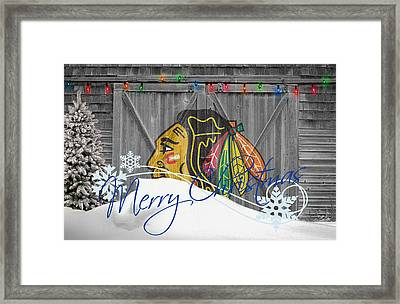 Chicago Blackhawks Framed Print by Joe Hamilton