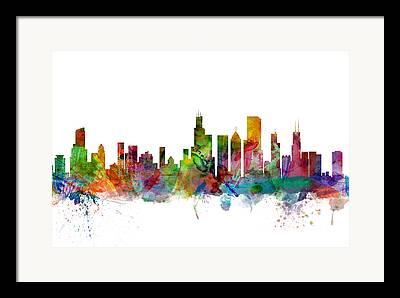 Illinois Digital Art Framed Prints