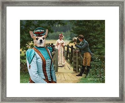 Chihuahua Art Canvas Print Framed Print