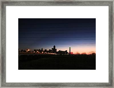 City Of Dallas Framed Print by Tinjoe Mbugus