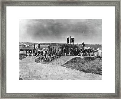 Civil War Union Fort Framed Print by Granger
