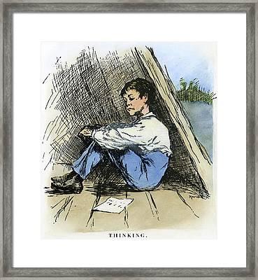 Clemens Huck Finn, 1885 Framed Print by Granger