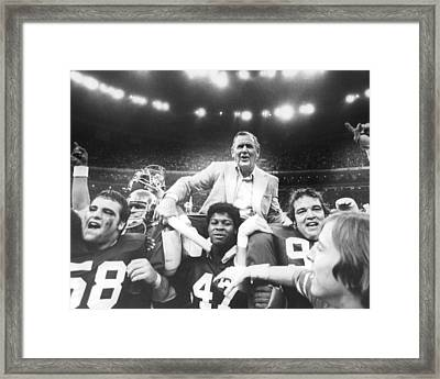 Coach Bear Bryant Framed Print