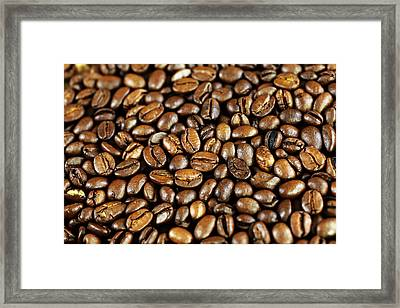 Coffee Beans Framed Print by Falko Follert