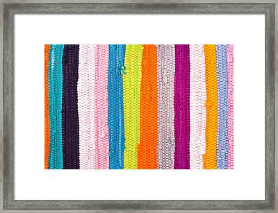 Colorful Textile Framed Print by Tom Gowanlock