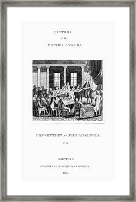 Constitutional Convention Framed Print