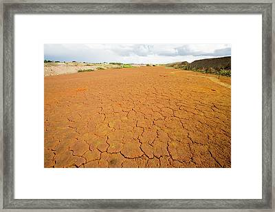 Contaminated Mine Effluent Framed Print