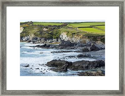 Cornish Seascape Gunwalloe Framed Print