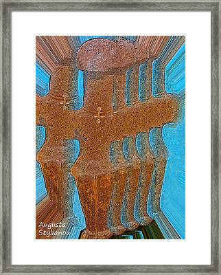 Cyprus Idol Of Pomos Framed Print by Augusta Stylianou