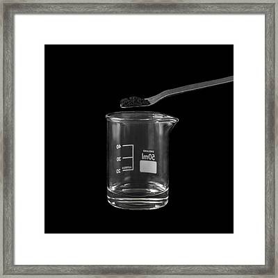 Decomposition Of Hydrogen Peroxide Framed Print by Science Photo Library
