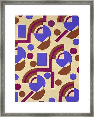 Design From Nouvelles Compositions Decoratives Framed Print