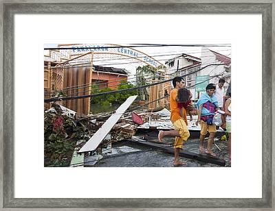 Destruction After Super Typhoon Haiyan Framed Print by Jim Edds