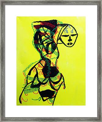 Dinka Lady - South Sudan Framed Print