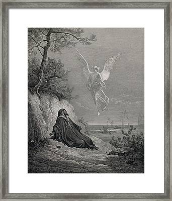 Dore, Paul Gustave 1832-1883. La Sainte Framed Print by Everett