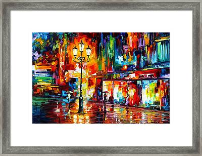Downtown Lights Framed Print