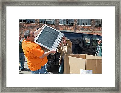 Electronic Waste Collection Framed Print