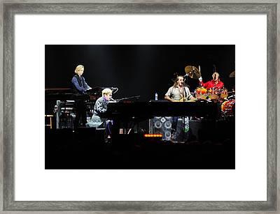Elton John Framed Print by Jenny Potter