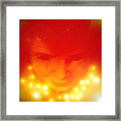 Elves-child Framed Print by Ramon Labusch