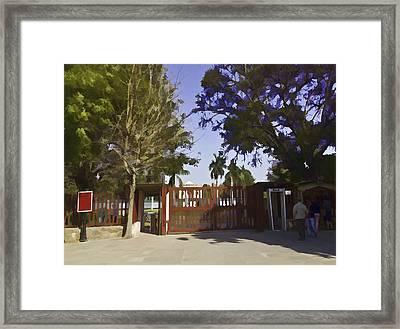 Entrance Gate Of Humayuns Tomb In Delhi  Framed Print